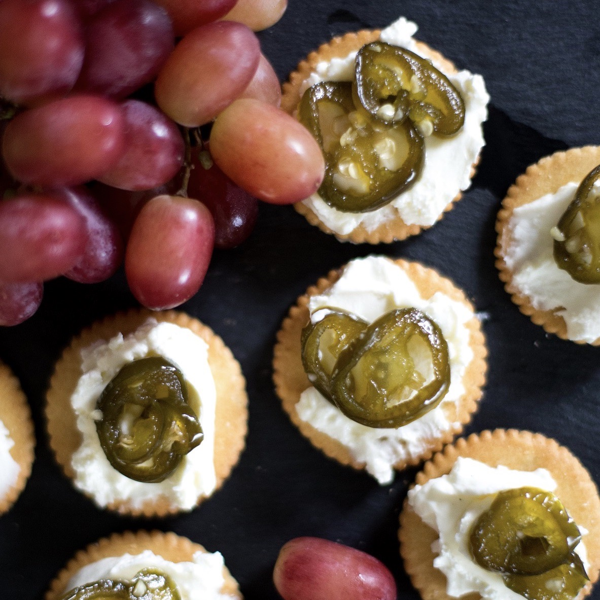 Candied Jalapeno Canapes